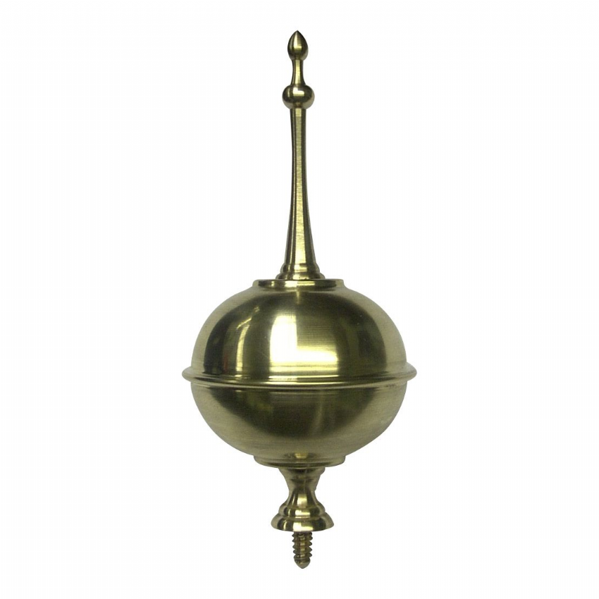 Small Squat Longcase Ball & Spire.  56.00mm Diameter & 120mm total Height